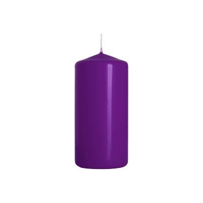 Świeca walec fioletowa