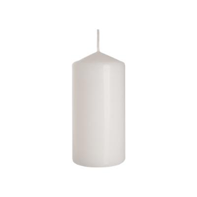 świeca walec biała