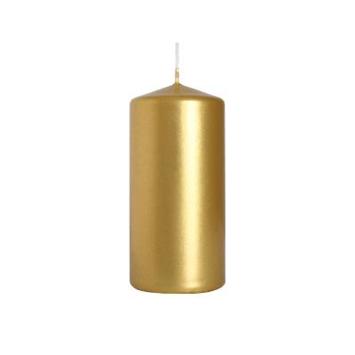 świeca walec złota