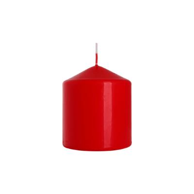 świeca walec czerwona
