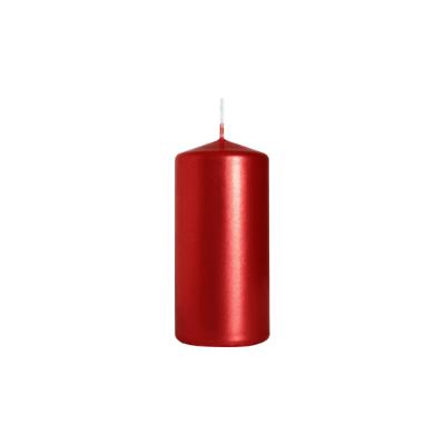 świeca walec 50/100 czerwonymetalik