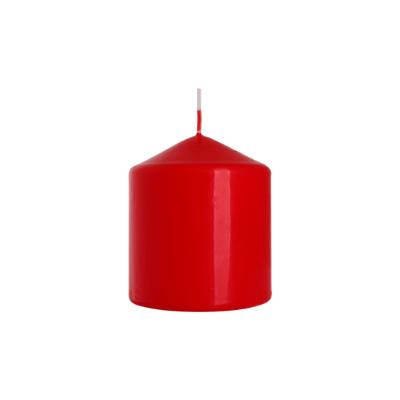 świeca walec 80/90 czerwony