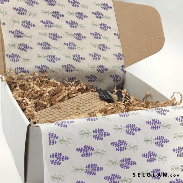 motyw lawendowy pudełko